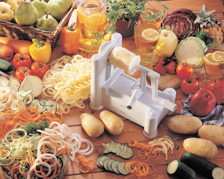 Paderno World Cuisine Spiral Vegetable Slicer