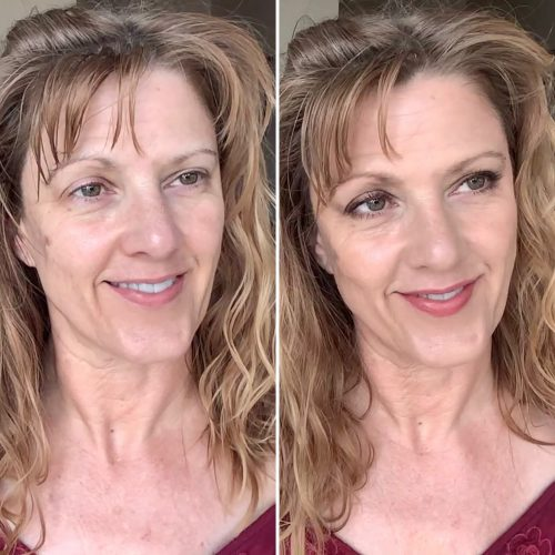 Before and After Seint Makeup